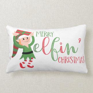 Cute Elf Merry Elfin Christmas Cushions