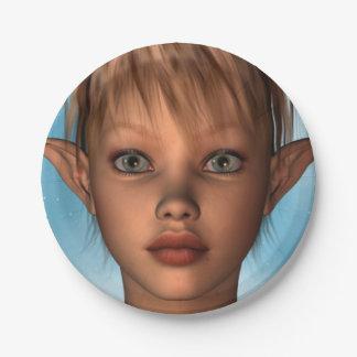 Cute Elf 7 Inch Paper Plate