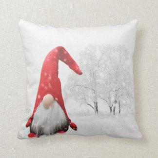 """Cute Elf Pillow  "" winter white  throw pillow"