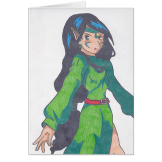 cute elf princess greeting card
