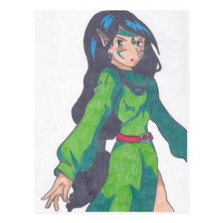 cute elf princess postcard