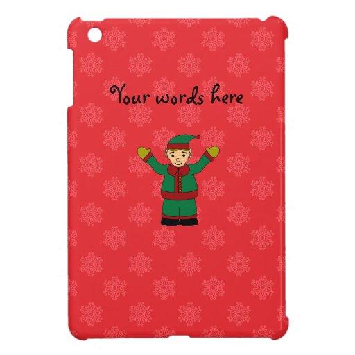Cute elf red snowflakes iPad mini cover