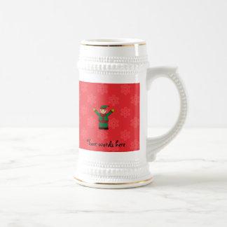 Cute elf red snowflakes coffee mugs