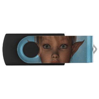Cute Elf Swivel USB 2.0 Flash Drive