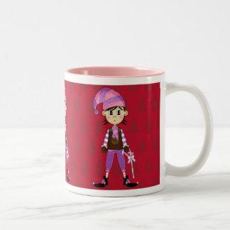 Cute Elf with Candy Cane Mug