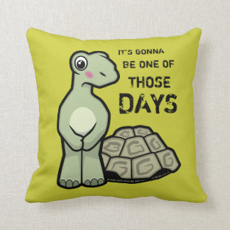 Cute Embarrassed Tortoise without his Shell Throw Pillow