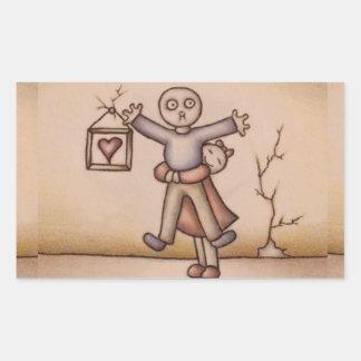 Cute Emo Cartoon of Girl Hugging Boy Stickers