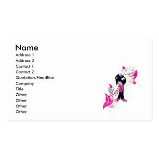 cute emo kid business card template