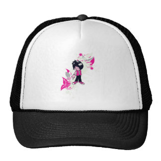 cute emo kid mesh hats