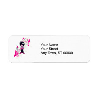cute emo kid return address label