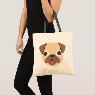 Cute Emoji Dog Tote Bag