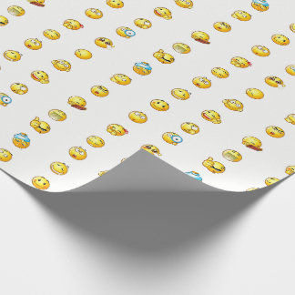 Cute emoji expression  faces Wrapping Paper