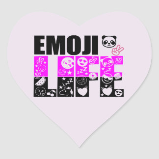 Cute Emoji Life Heart Sticker