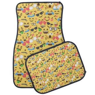 cute emoji love hears kiss smile laugh pattern car mat