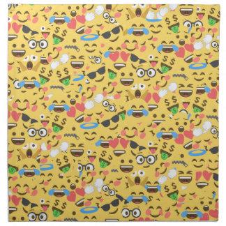 cute emoji love hears kiss smile laugh pattern napkin