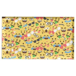 cute emoji love hears kiss smile laugh pattern table card holders