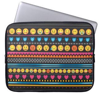 Cute Emoji Stripe Laptop Case