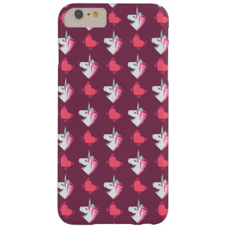 Cute Emoji Unicorn and Hearts Pattern Barely There iPhone 6 Plus Case