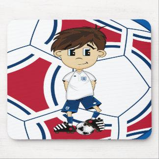 Cute England Soccer Boy Mousepad