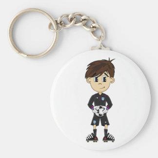 Cute England Soccer Goalkeeper Keychain
