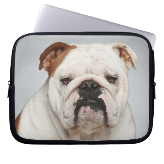 Cute English Bulldog Puppy Dog Laptop Sleeve Case