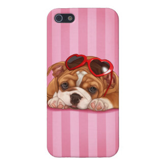 Cute English Bulldog Puppy iPhone 5 Cover