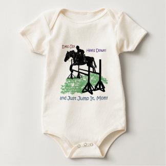 Cute Equestrian Horse Jumper Baby Bodysuit