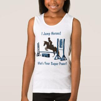Cute Equestrian Pony Jumper Singlet