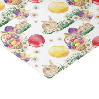 Cute Esater bunny basket pattern party tissue Tissue Paper