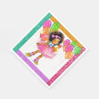 Cute Ethnic Girl Napkins Paper Napkin