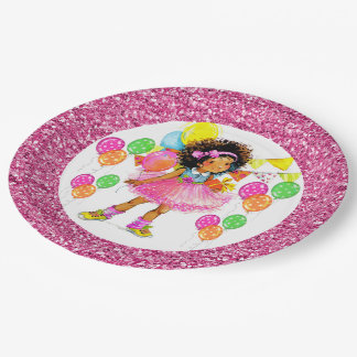 Cute Ethnic Girl  Party Goods 9 Inch Paper Plate