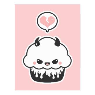 Cute Evil Cupcake Postcard