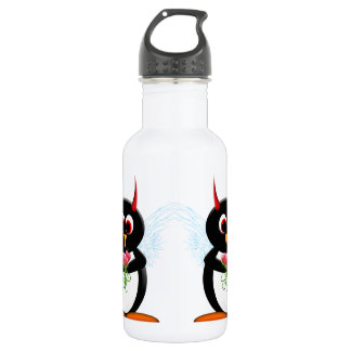 Cute Evil Penguin 532 Ml Water Bottle