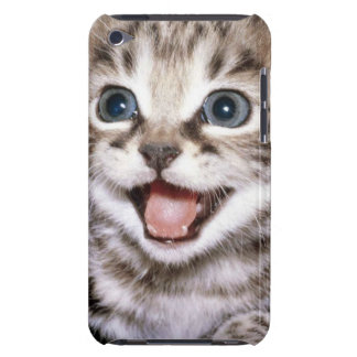 Cute Excited Tabby Kitten Barely There iPod Covers