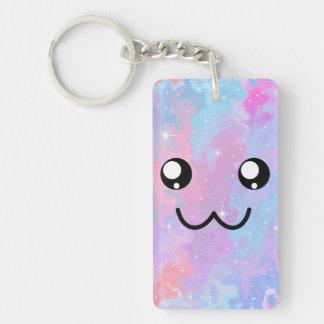 Cute Face Kawaii Pastel Magical Personalized Key Ring