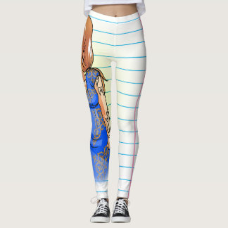 Cute Face Khat Comics Leggings