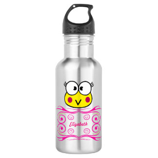 cute face of toad girl 532 ml water bottle