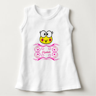 cute face of toad girl dress