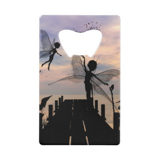 Cute fairy dancing on a jetty