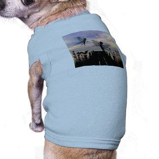 Cute fairy dancing on a jetty sleeveless dog shirt