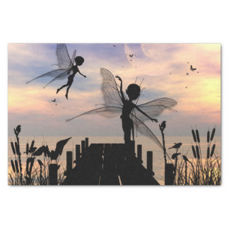 Cute fairy dancing on a jetty tissue paper