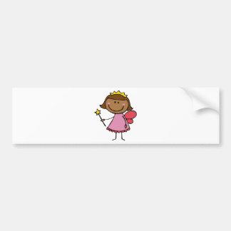 Cute Fairy in a Pink Dress Bumper Sticker