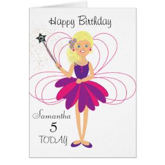 Cute Fairy Personalised Birthday Card