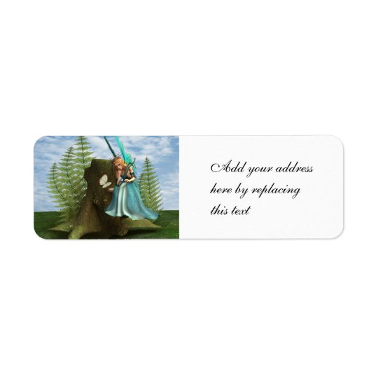 Cute Fairy Return Address Label