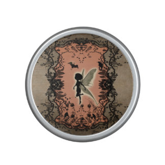 Cute fairy silhouette with glowing shine speaker