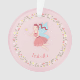 Cute Fairy Spring Floral Pink Girls Room Ornament