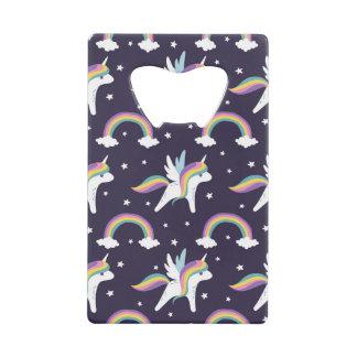 Cute Fairy Unicorn + rainbows blue background