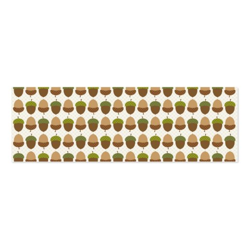Cute Fall Autumn Acorn Nut Pattern Business Cards