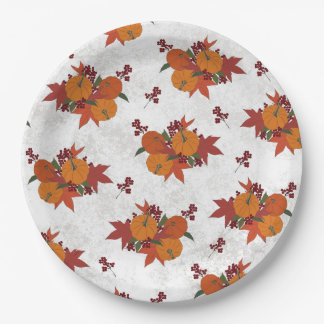 Cute Fall Harvest Paper Plate