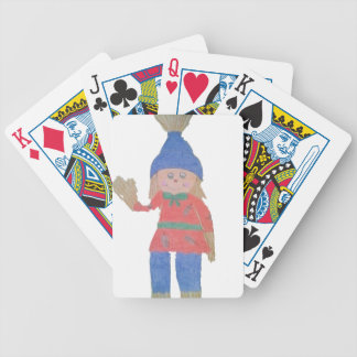 Cute Fall Scarecrow Bicycle Playing Cards